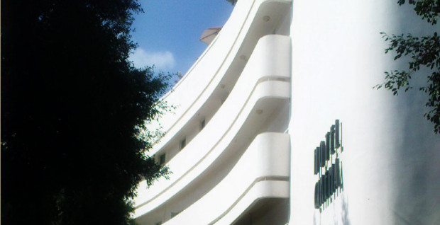 The facade of the former Esther theater