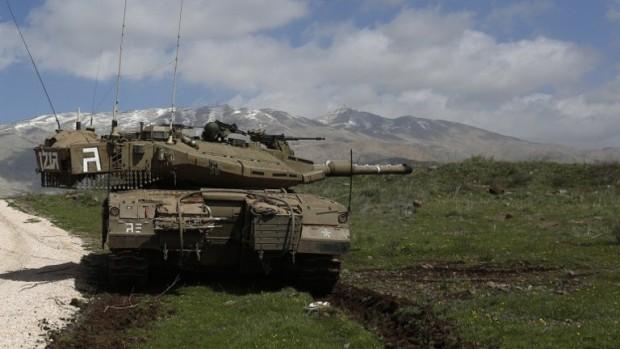 Israeli tanks on the Golan