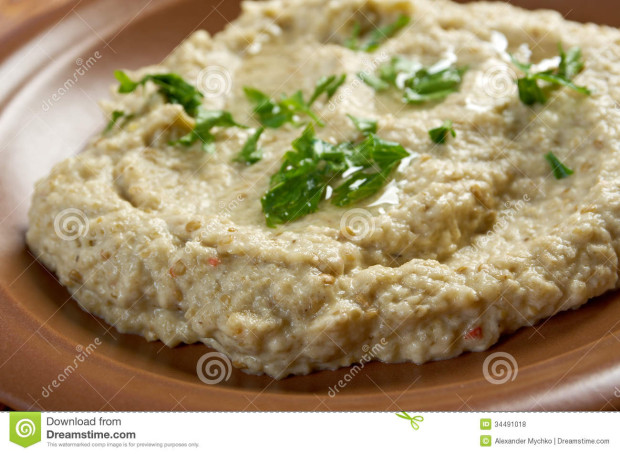 Traditional baba ghanoush