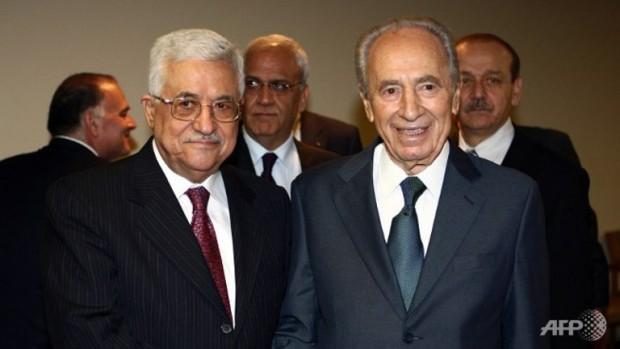 Shimon Peres and Mahmoud Abbas