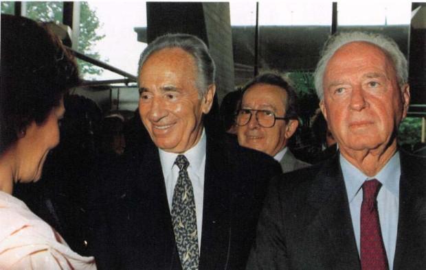 Yitzhak Rabin and Shimon Peres