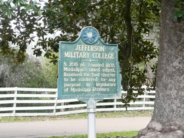 Jefferson Military College in Mississippi
