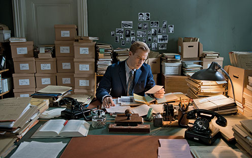 Alexander Fehling portrays a young German prosecutor who goes after Nazi war criminals