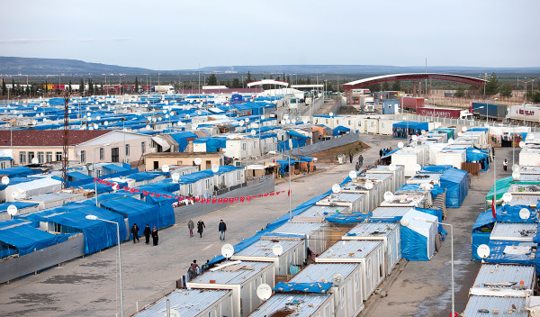A refugee camp for Syrians in Turkey
