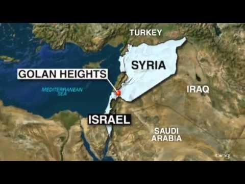 Map of Golan area