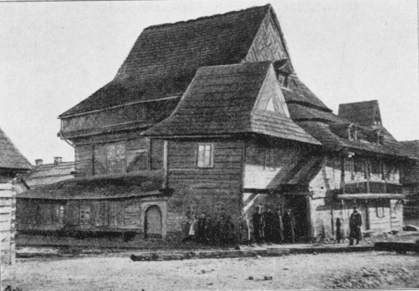 One of the wooden synagogues destroyed by the Nazis