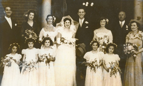 Cohen's parents, center, were married in 1950