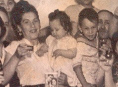 David and Genya Kirshner and their first two children (family photo)