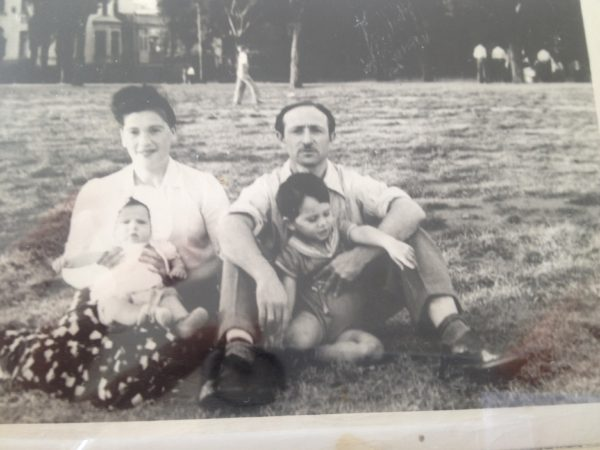 David and Genya Kirshner and their first two children, Sheldon and Marlyn, in the early 1950s (family photo)