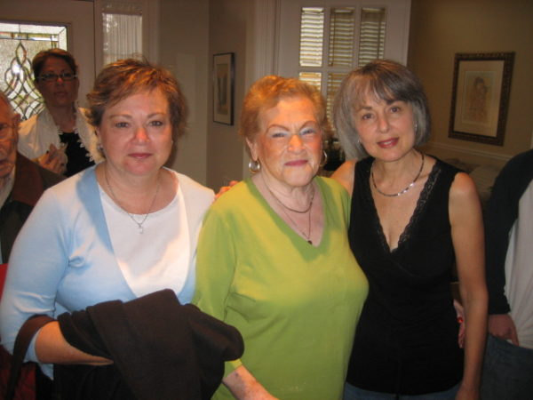 Genya Kirshner and her two daughters, Shirley, left, and Marlyn