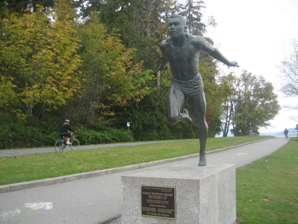 Statue of Canadian sprinter Harry Jerome