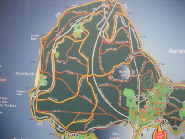 Map of Stanley Park at one of its entrances