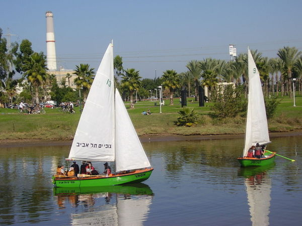 Sailing the waters of the Yarkon today