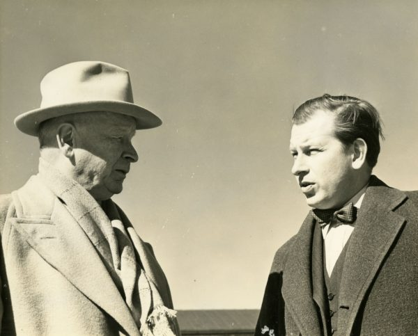 Eliel Saarinen and his son, Eero, in 1941