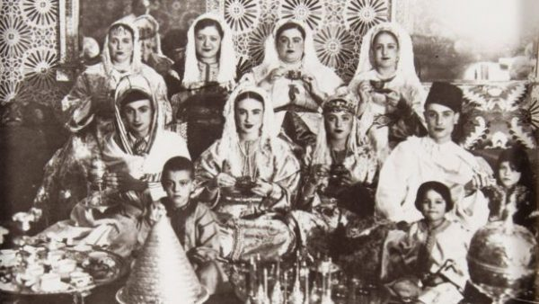 Jews at a wedding in Morocco in the 1930s