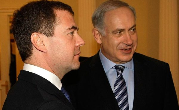 Dmitry Medvedev and Benjamin Netanyahu