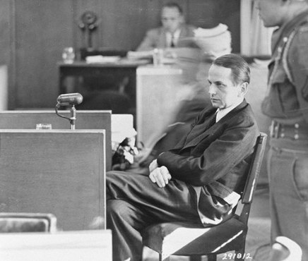 Otto Ohlendorf at his trial after the war