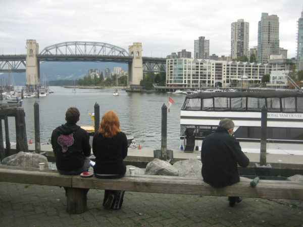 Waiting for the ferry back to downtown Vancouver