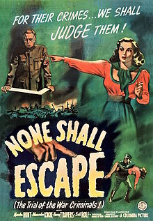 The movie poster of None Shall Escape