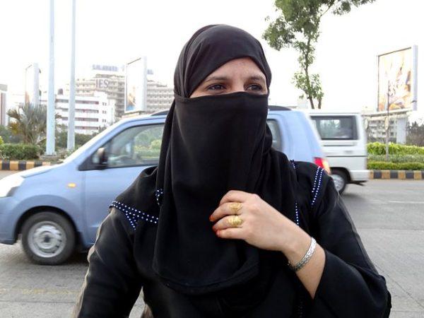 A veiled Muslim woman