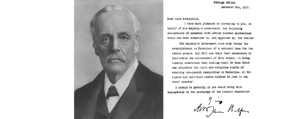 The Balfour Declaration A Century Later